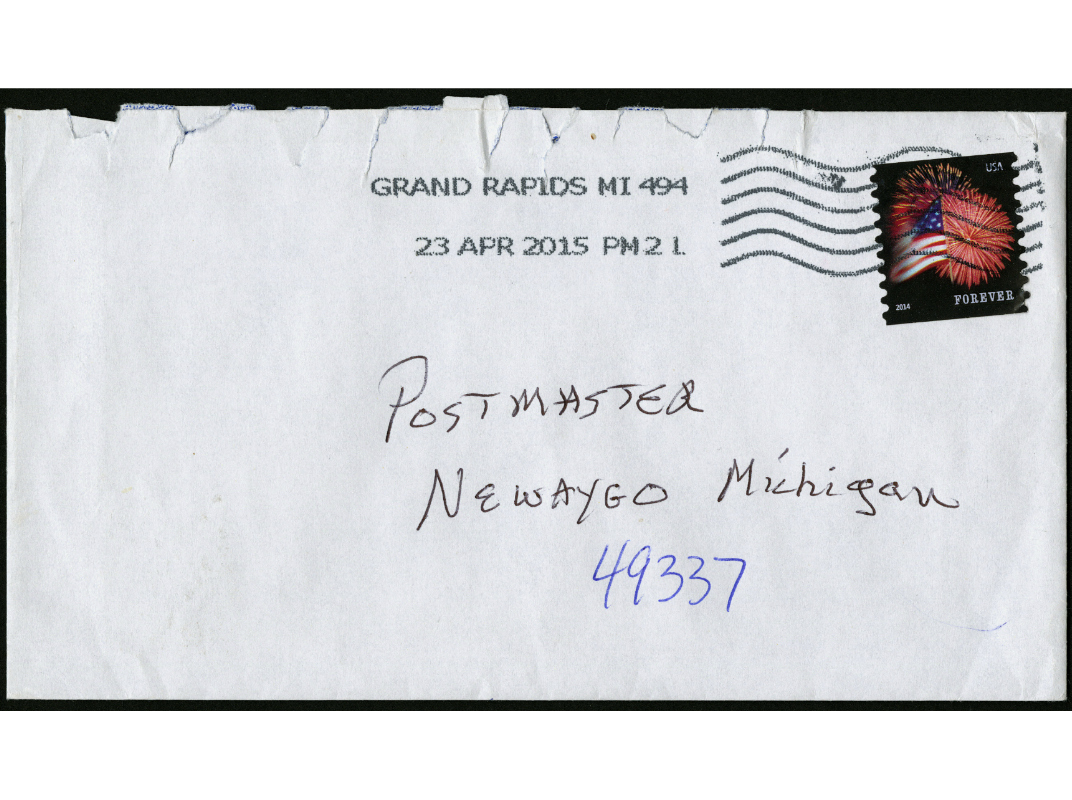 Envelope from Michigan