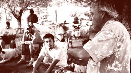 Estevan Arellano instructing students