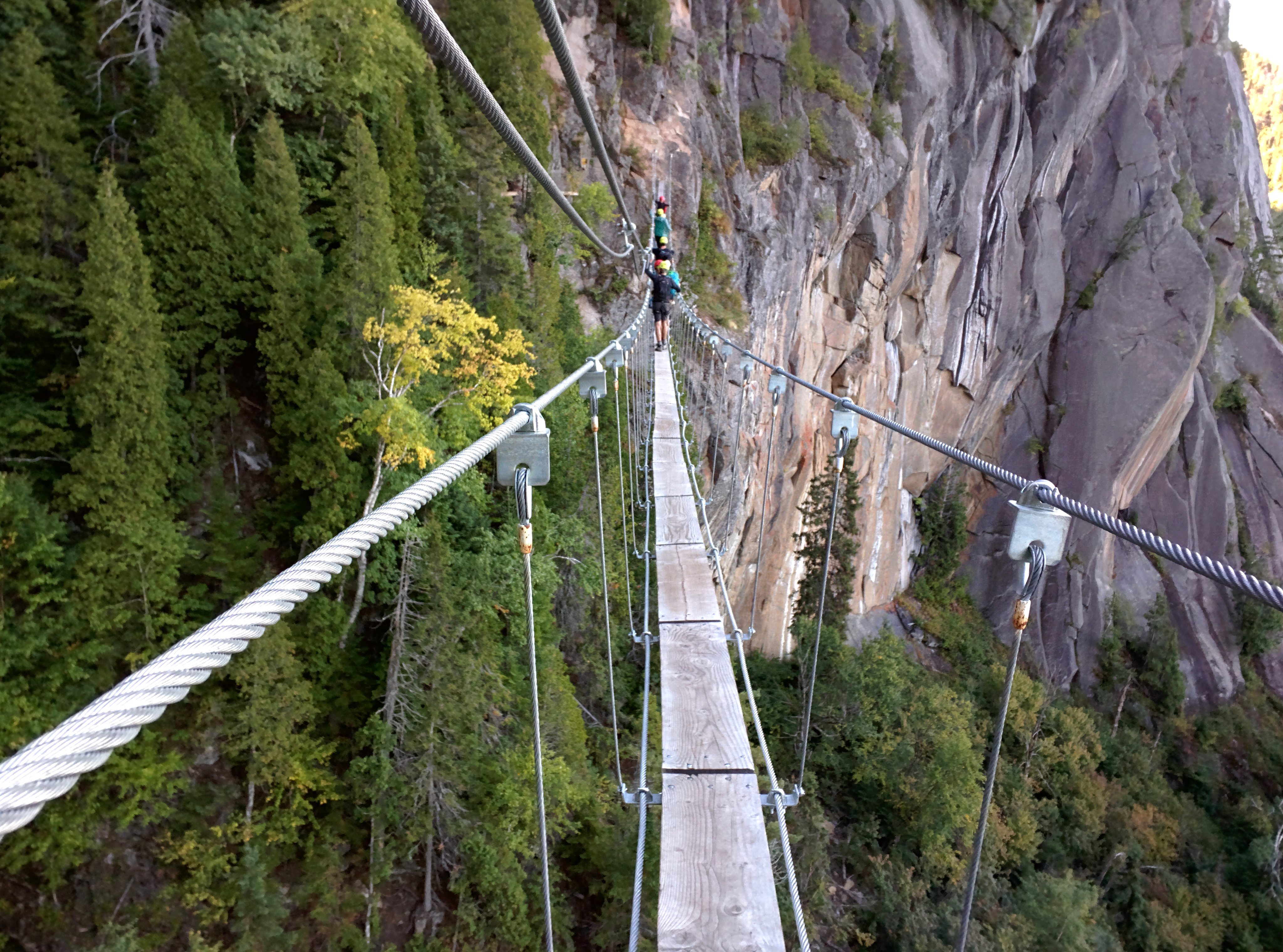 Rope bridge at Via ferrata des Géants