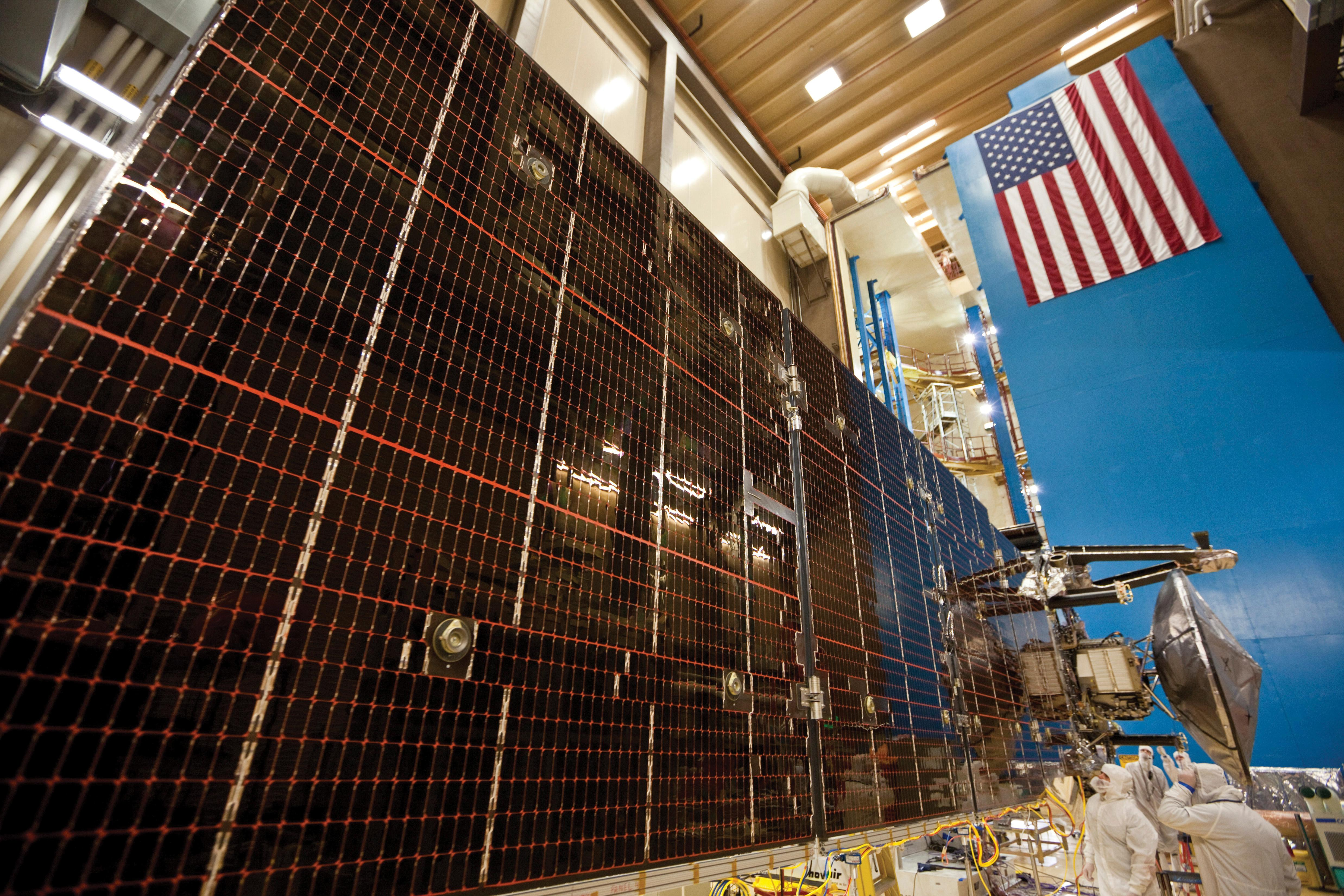 Juno's three solar arrays