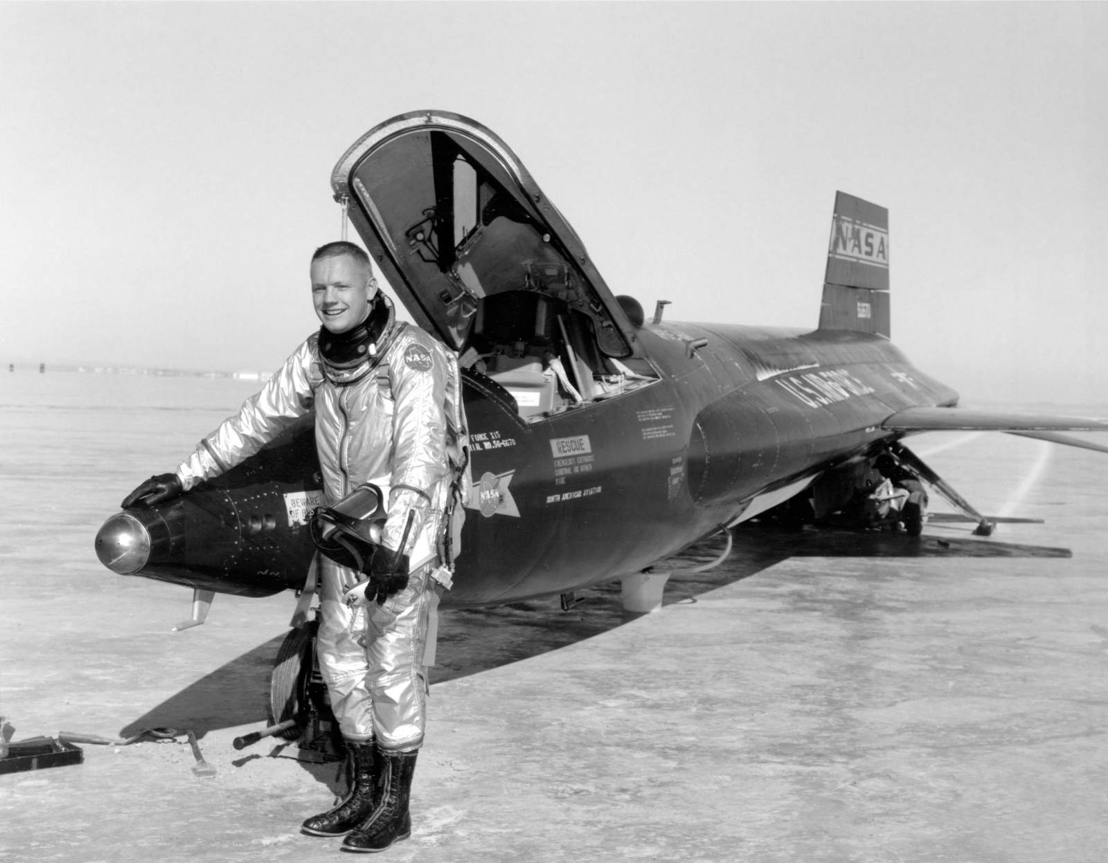 X-15 with Armstrong