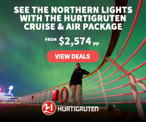 See the Northern Lights with the Hurtigruten Cruise and Air Package