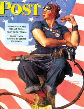 Norman Rockwell's rendition of Rosie