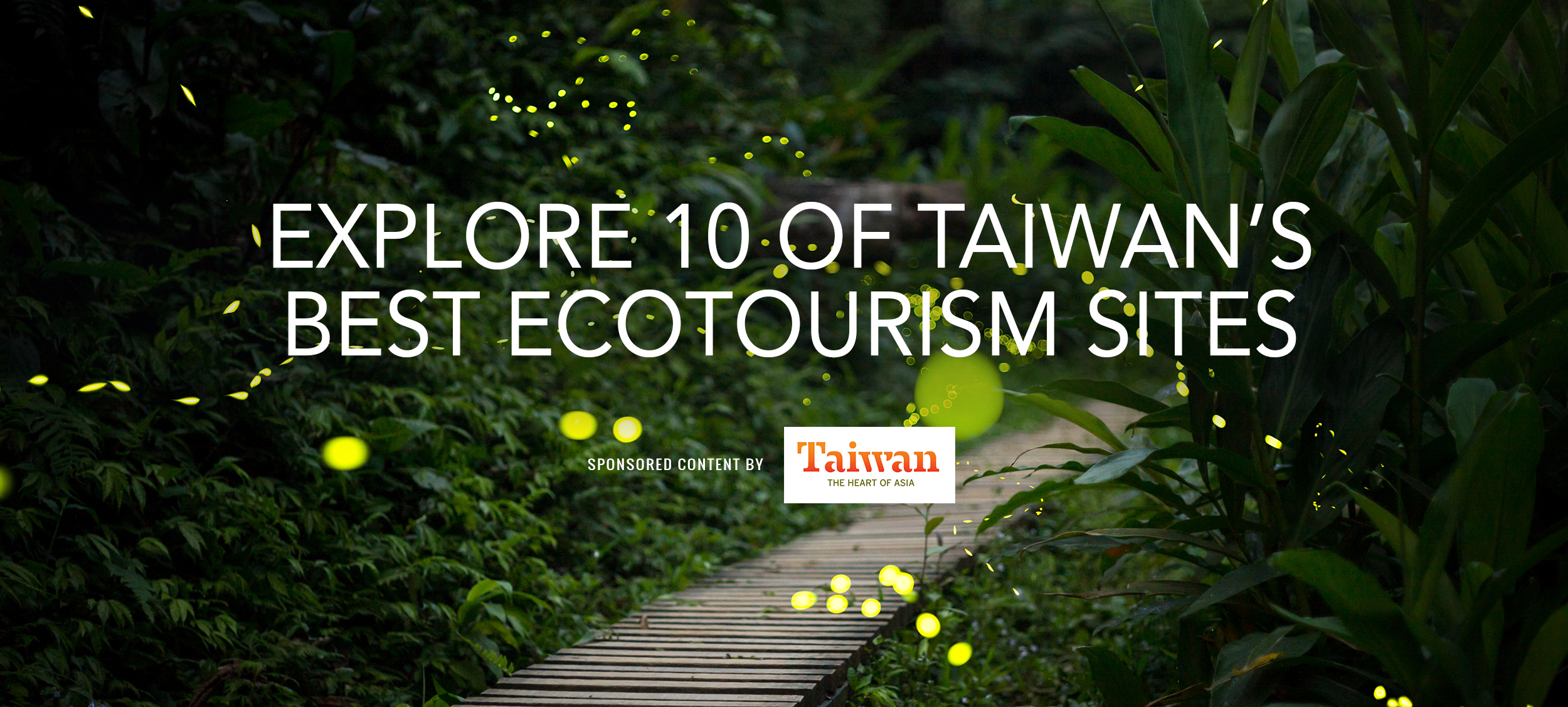 Taiwan Top 10 EcoTourism Banner CROP v2jpg u201c Explore 10 of Taiwanu0027s Best