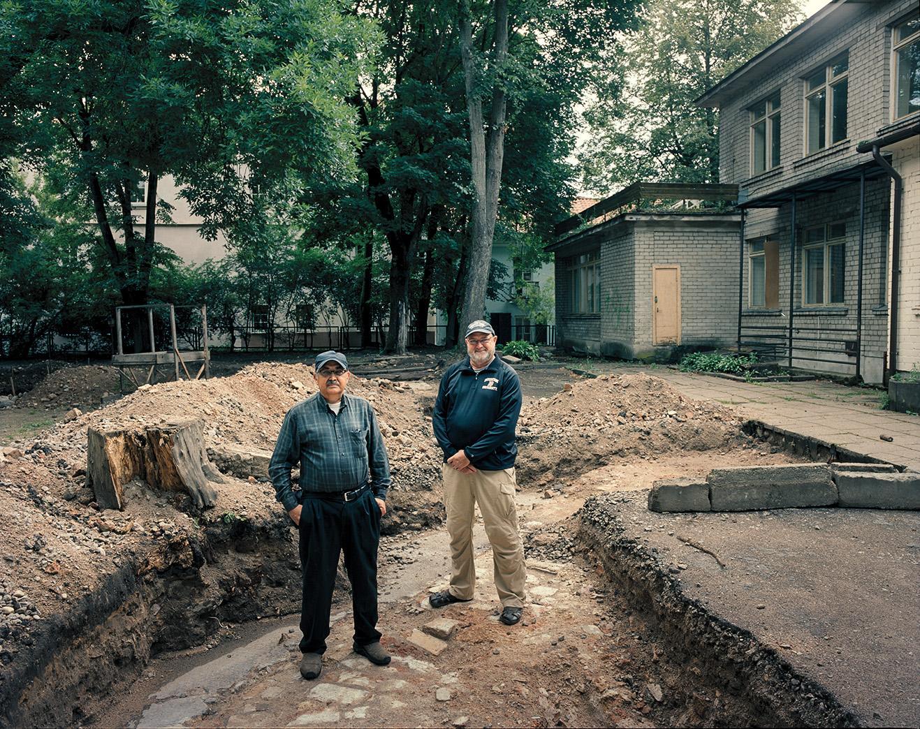 Richard Freund and Philip Reeder in Panemunelis