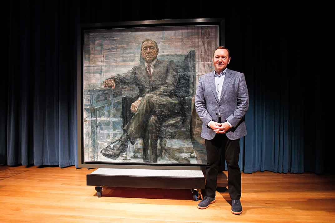 Kevin Spacey, portrait of Frank Underwood