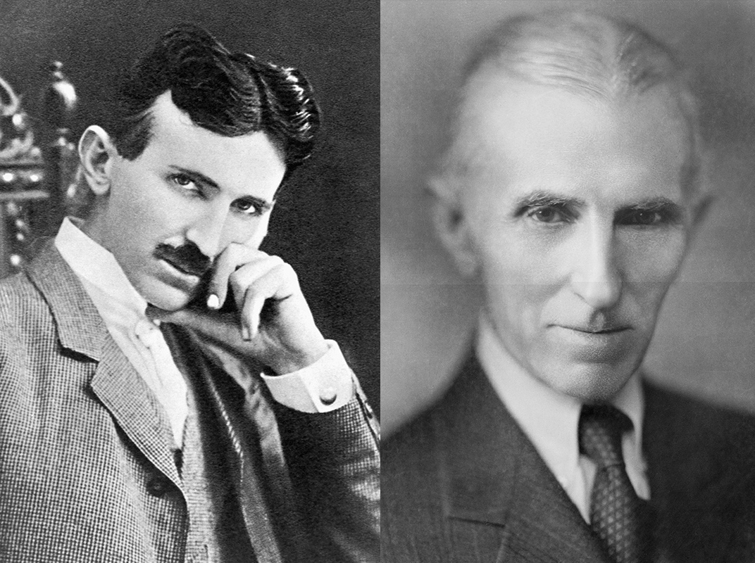 Nikola Tesla Old-Young Compare