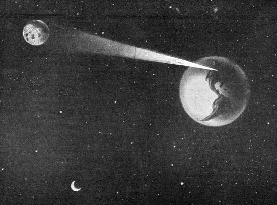 Earth flashes a message to Mars (1919)