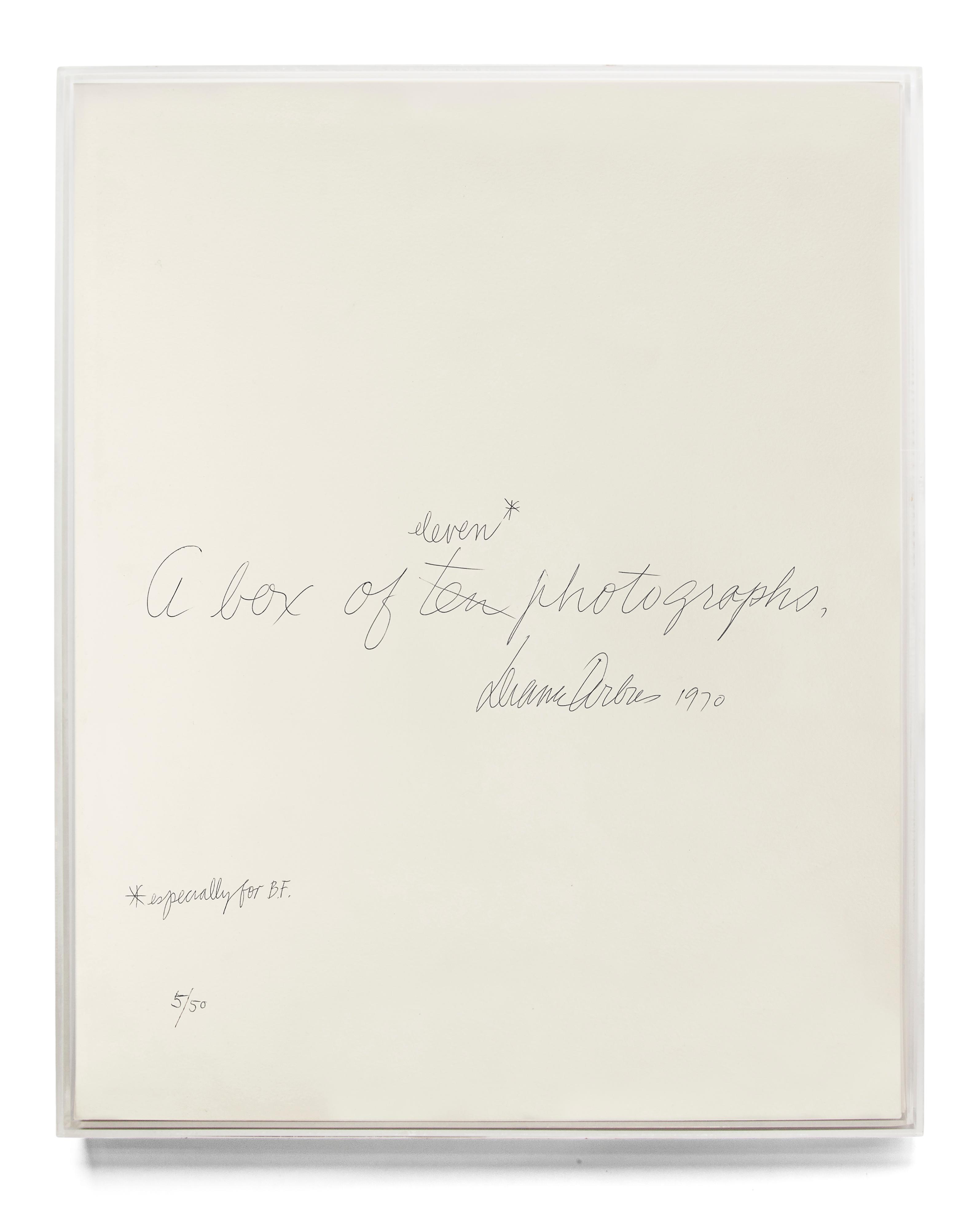 Lucite Box, Diane Arbus