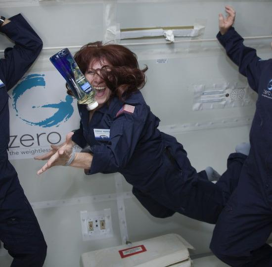 Jones simulates the astronaut experience