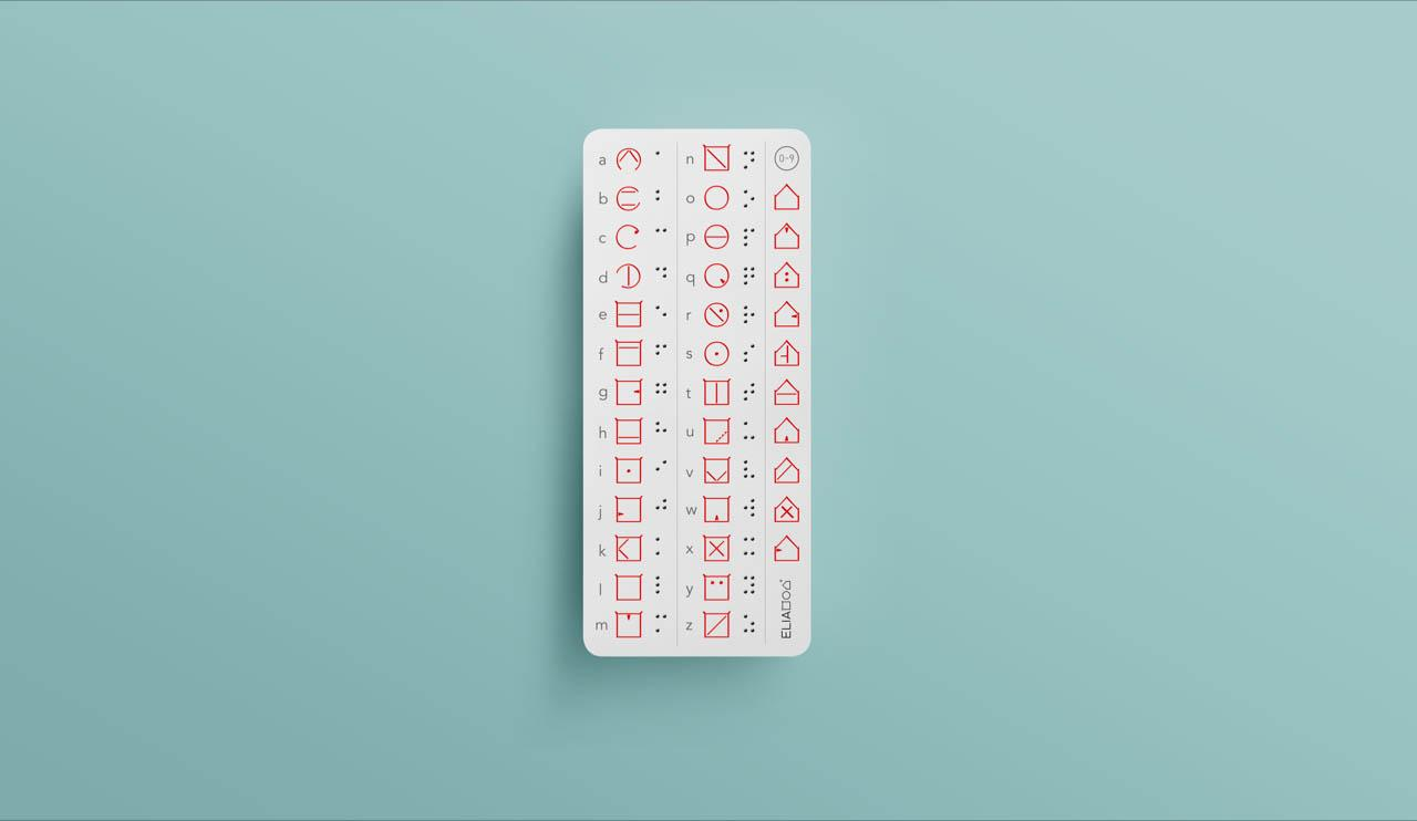 ELIA alphabet bookmark