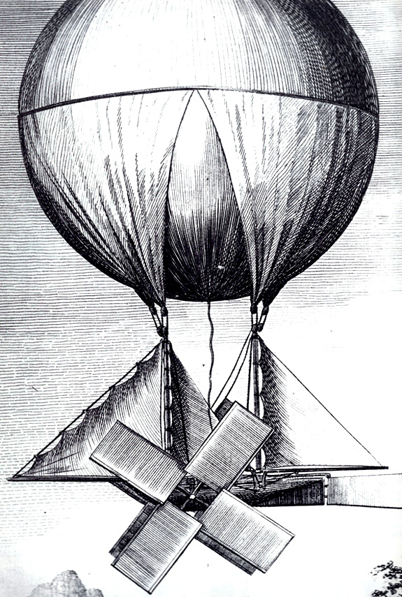 The Aeronautic Chariot designed by Richard Crosbie (circa 1780)