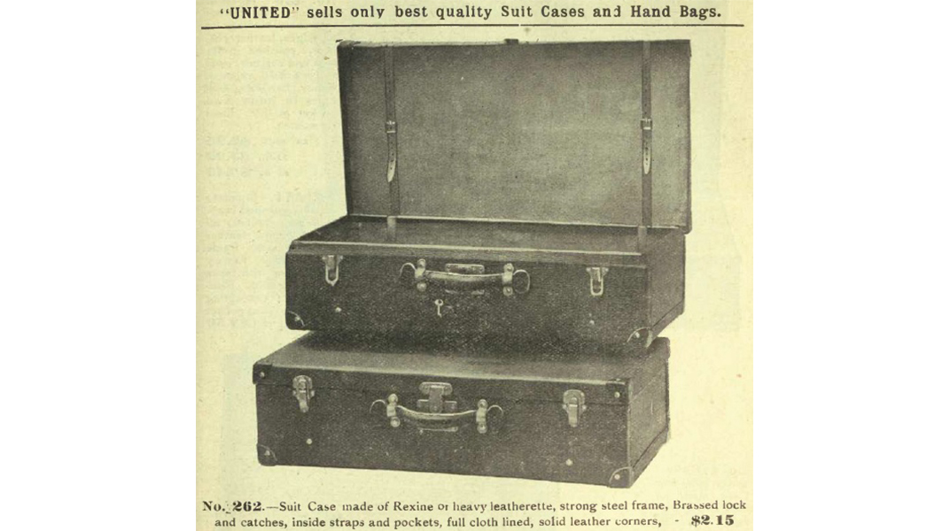 "An early ""suit case"""