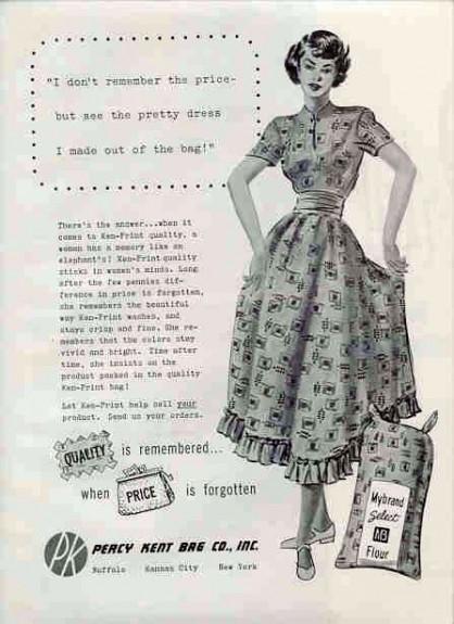 Sack dress, 1949