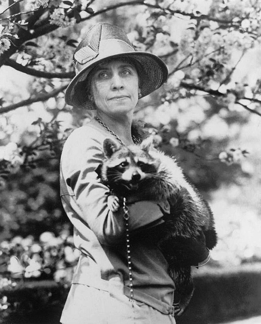 Grace Coolidge and Rebecca Raccoon