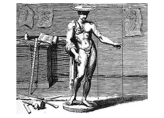 A drawing of Alberti's finitorium, as described in his treatise De Statua