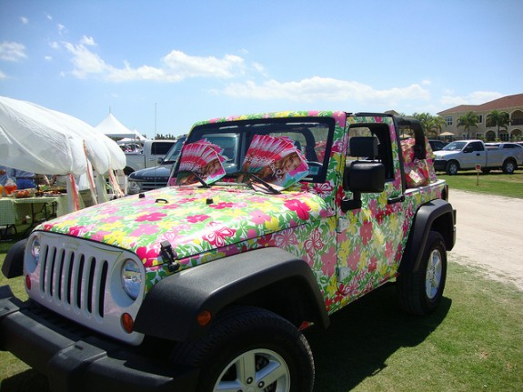 Lilly Pulitzer-branded Jeep