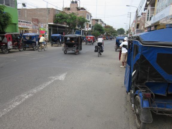 Strange three-wheeled vehicles