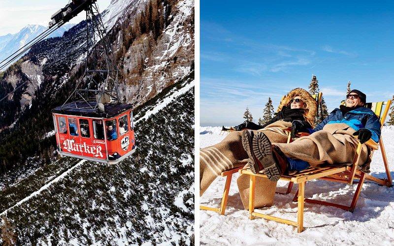 gondola takes passengers to the top