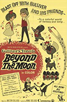 Theatrical poster to the 1966 US release of Gulliver's Travels Beyond the Moon