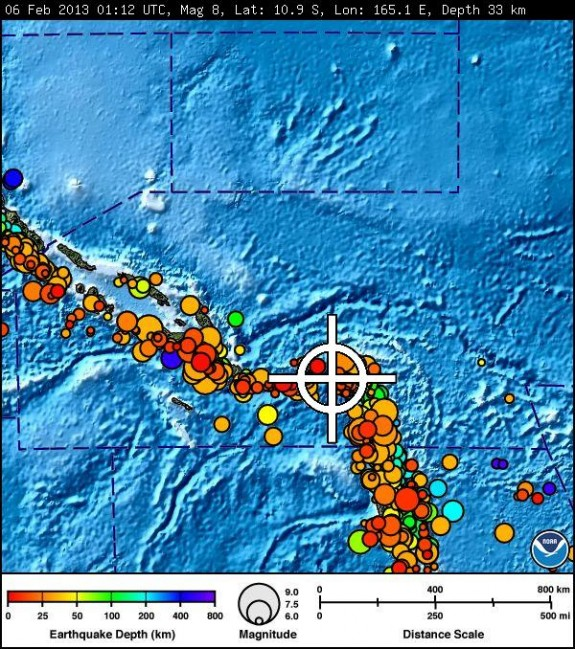 The main 8.0 earthquake was surrounded by a series of sizeable foreshocks and aftershocks.
