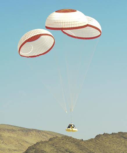 The CST-100's parachute landing system gets checked out in Nevada.