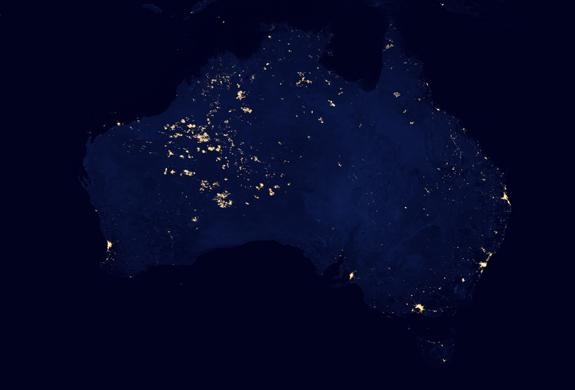 The lights in Australia's western interior