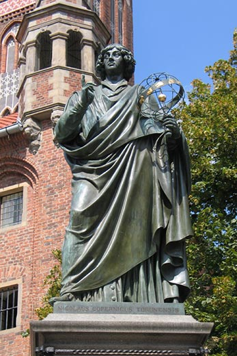 Nicholas Copernicus statue Torun Poland