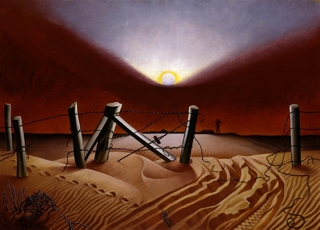 Dust Bowl by Alexandre Hogue, 1933
