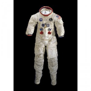 From the museum's collections, the spacesuit Armstrong wore on the Apollo 11 mission.