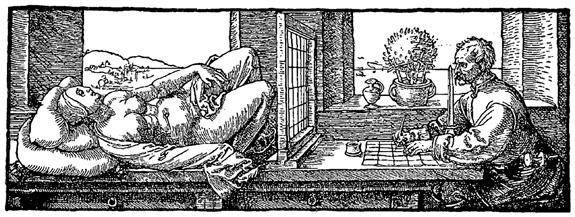 Draughtsman Drawing a Recumbent Woman