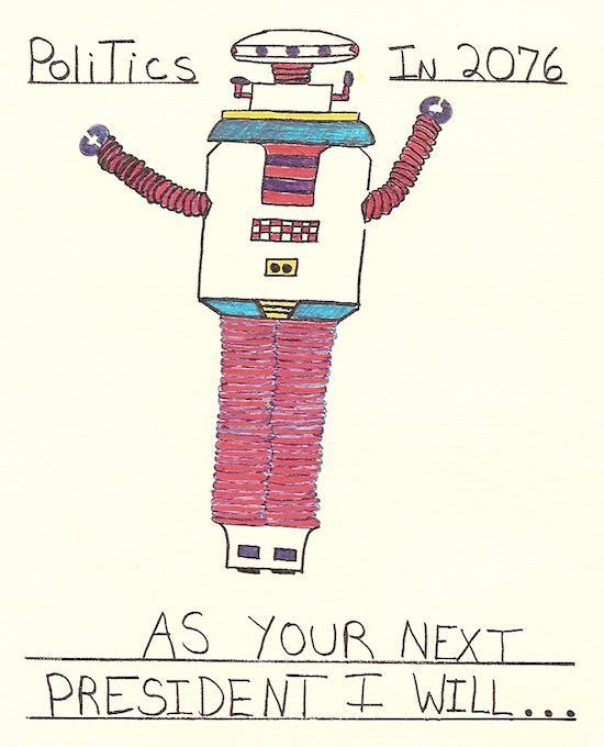 Robert Berman's robot president of the year 2076