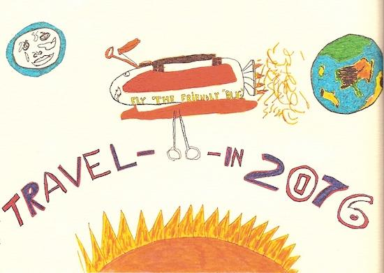 Michael Urena's drawing of travel in the year 2076