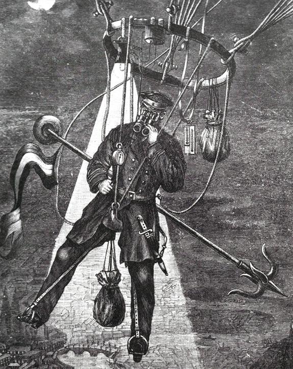 George Rodek's Saddle Balloon (1895)