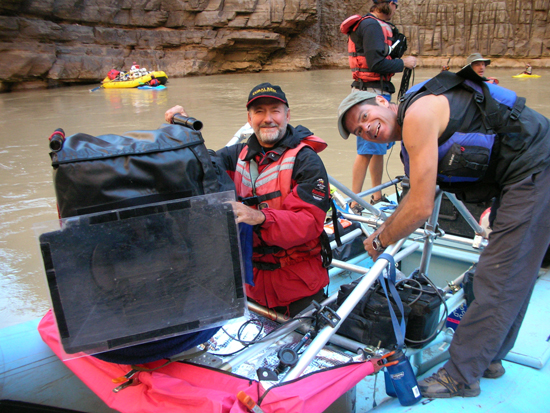 Greg MacGillivray during the making of Grand Canyon Adventure