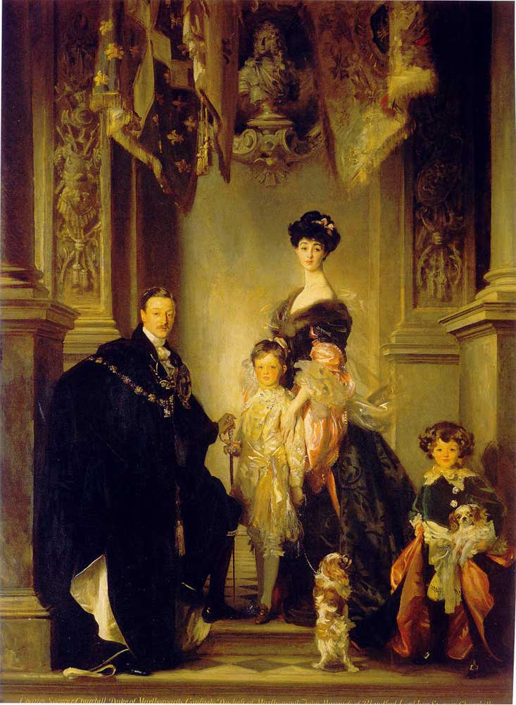 The Duke and Duchess of Marlborough with their children. Painted by John Singer Sargent in 1905