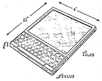 Kay's illustration for the original Dynabook