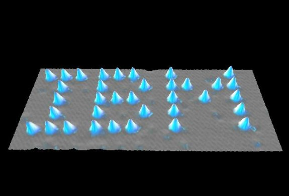 Don Eigler spelled out IBM's logo using xenon atoms in 1999