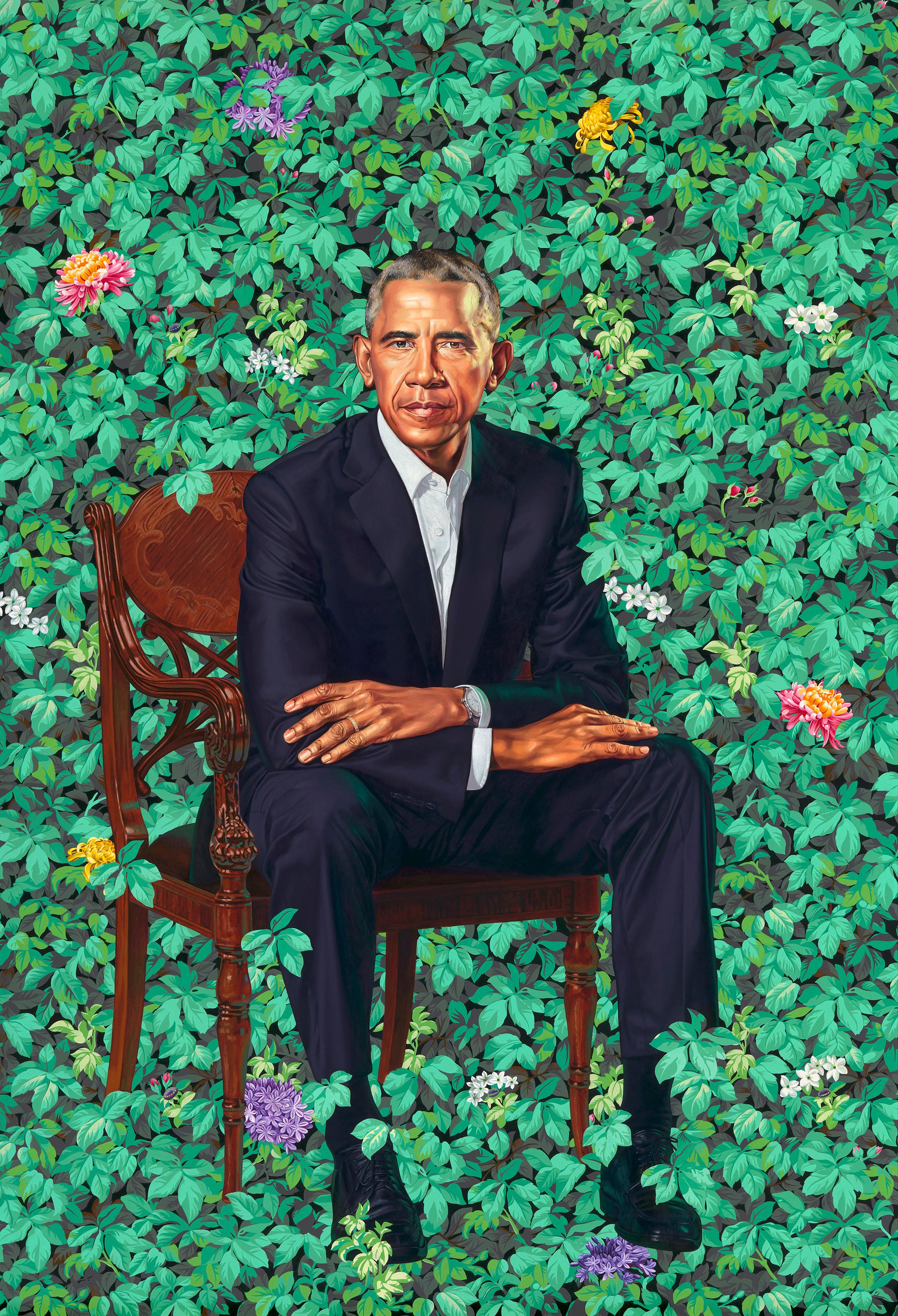 Artists Kehinde Wiley and Amy Sherald Capture the Unflinching Gaze of the President and First Lady
