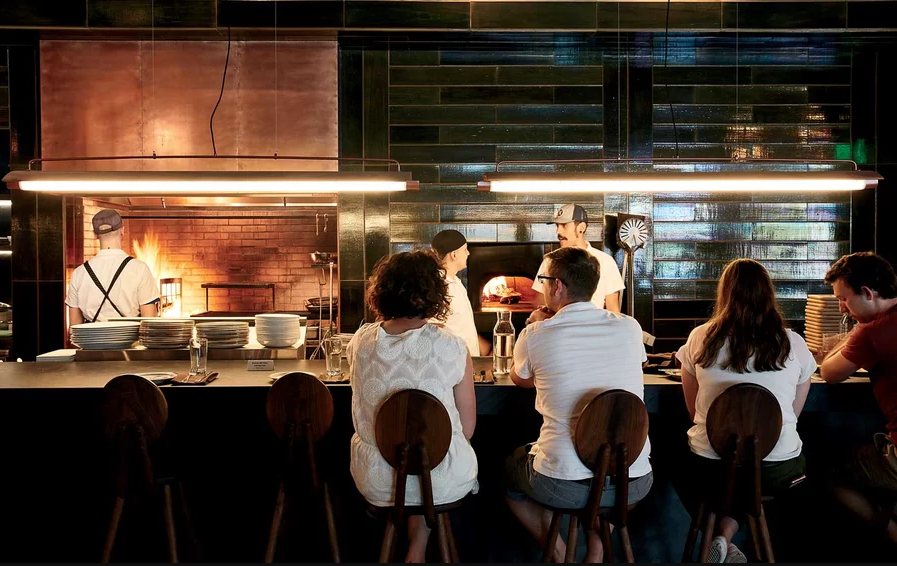 The bar at Young Joni, a Korean-influenced restaurant in Northeast Minneapolis.