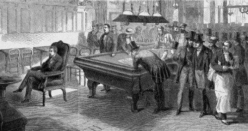 "Paul Morphy playing ""blindfold"" chess in Paris, 1858"