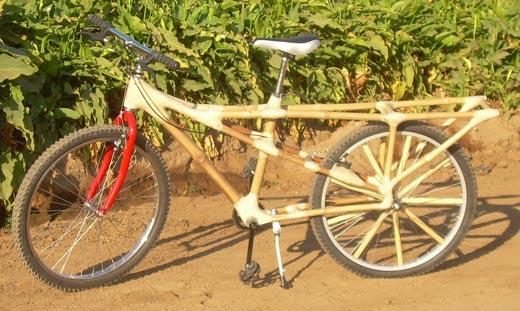 Bamboo cargo bike