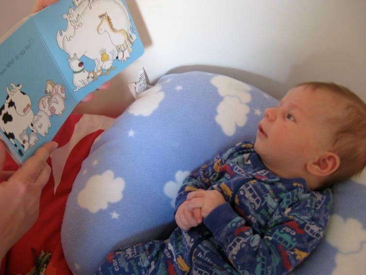 Even the littlest listeners can enjoy having a book read to them.