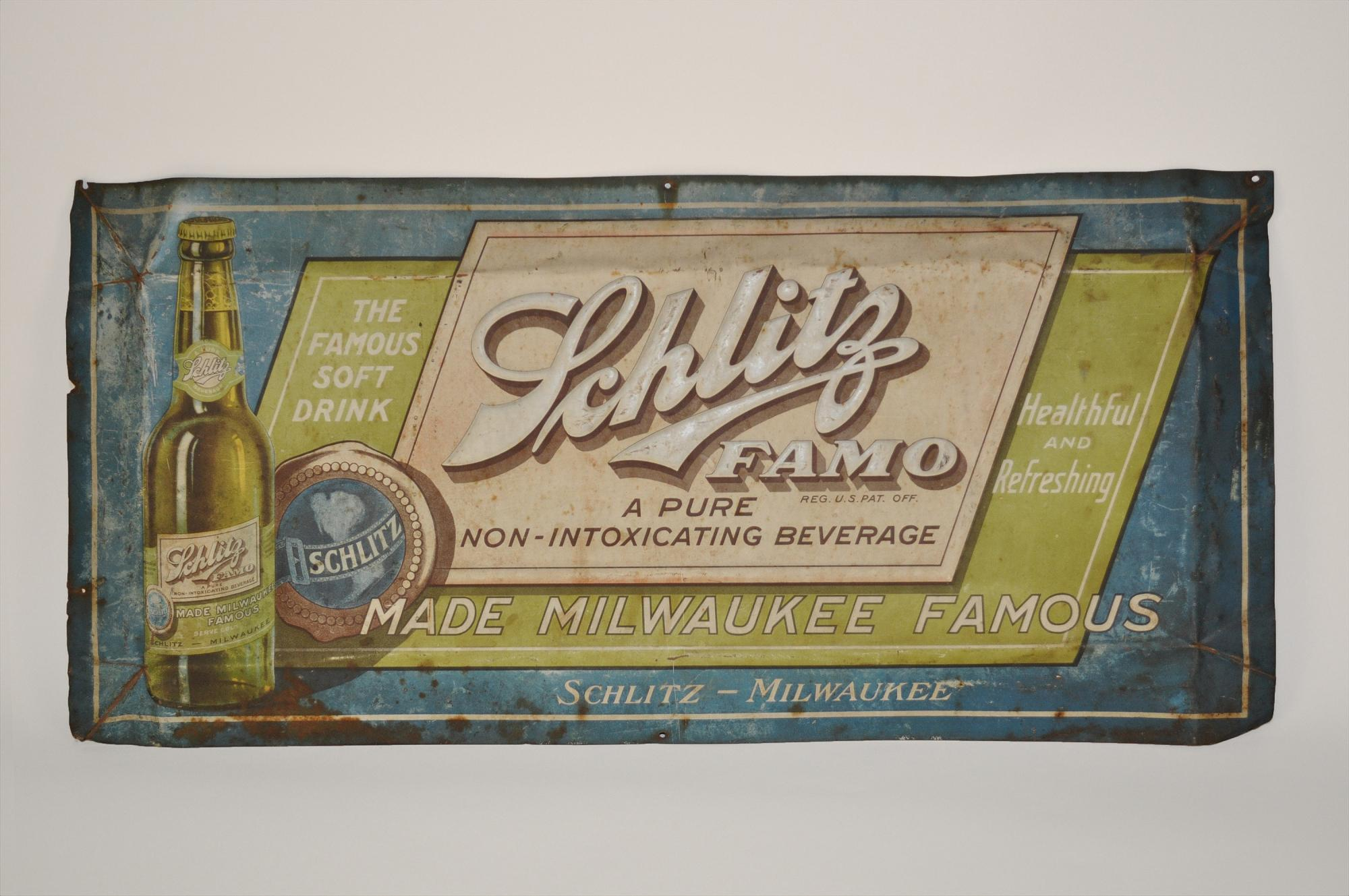 Schlitz FAMO Sign, 1920s