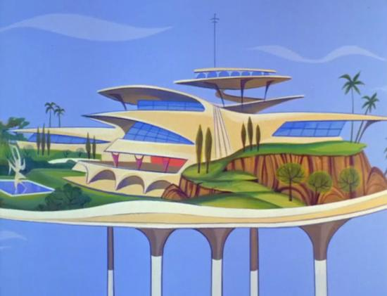 A Googie-inspired home of the future