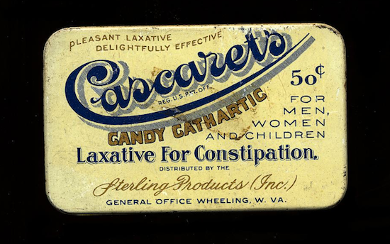 """Sterling Products made this """"candy cathartic"""" around 1925."""