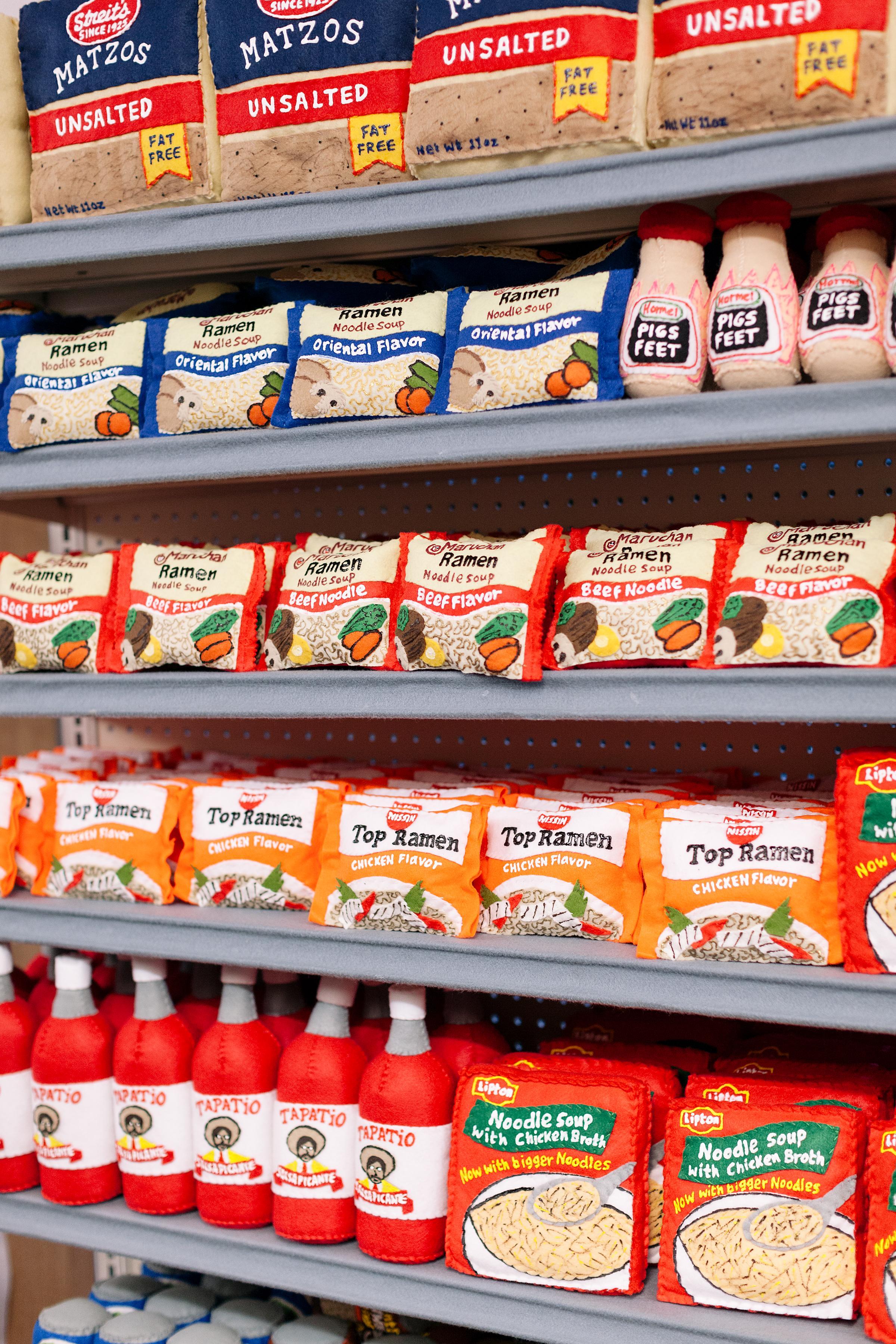 Sparrow Mart Felt Groceries