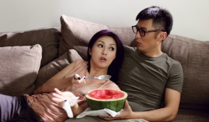 Miriam Yeung and Shawn Yue in the China Lion release Love in the Buff