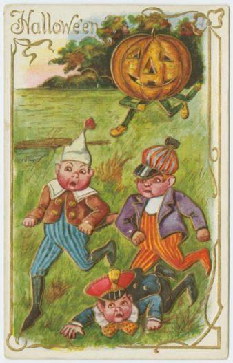 Teens used to terrorize smaller children on Halloween.