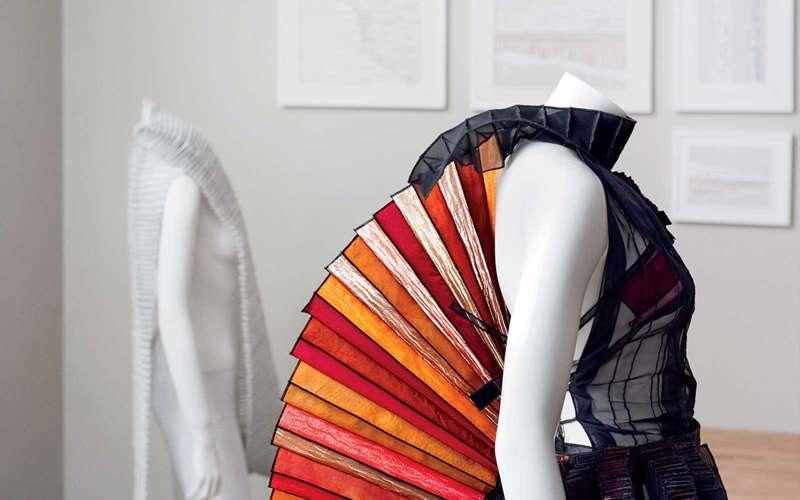 A fabric sculpture by textile artist Deepa Panchamia.